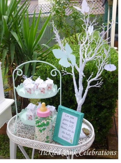 Enchanted Garden Baby Shower game, how many jellie beans