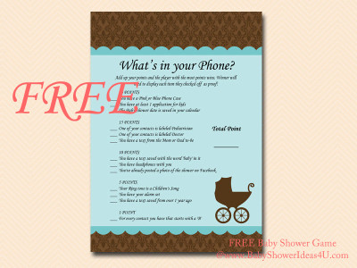 free what's in your phone, phone game, what's in your cell, cellphone game, Baby Shower Games Printable, Baby Shower Activities, Download
