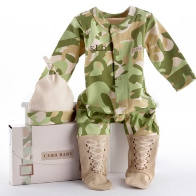 Baby Camo Personalized Layette Gift Set baby boy
