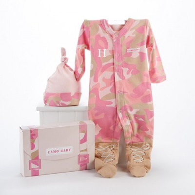 Baby Camo Personalized Layette Gift Set baby girl