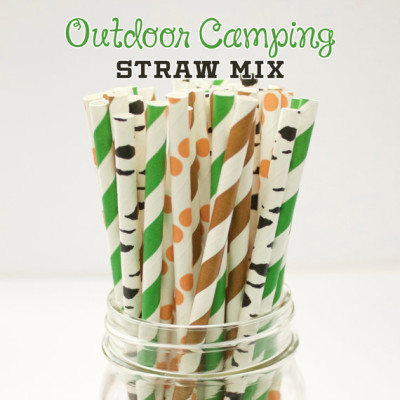 Baby Shower camo straws