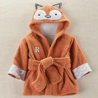 Personalized Fox Hooded Bath Robe