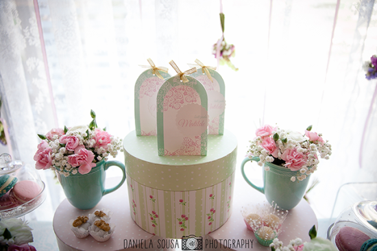 Vintage Pastel Baby Christening decoration ideas