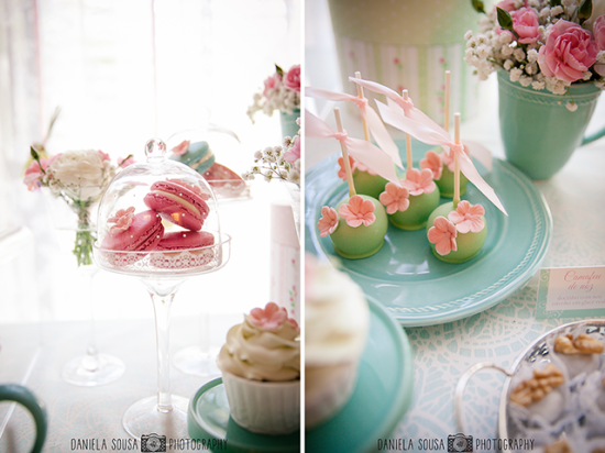 Vintage Pastel Baby Christening treats and sweets