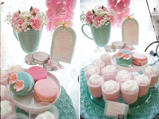 Vintage Pastel Baby shower dessert ideas