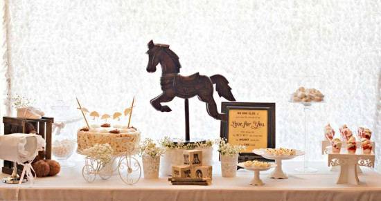 Vintage Rocking horse Baby Shower