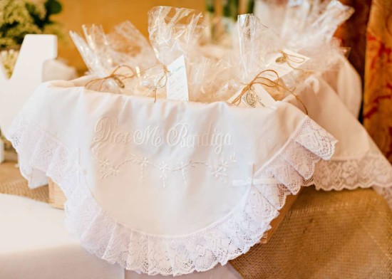Vintage White Baby Shower favors