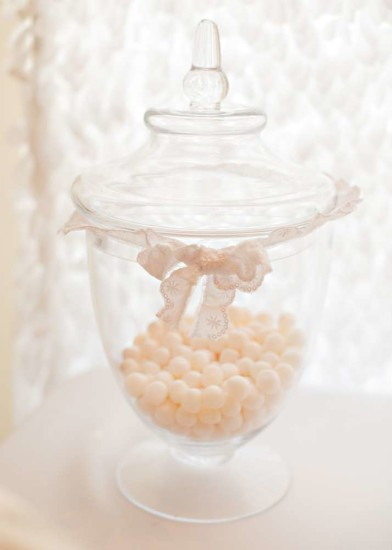 Vintage White Baby Shower food and sweets, white lace