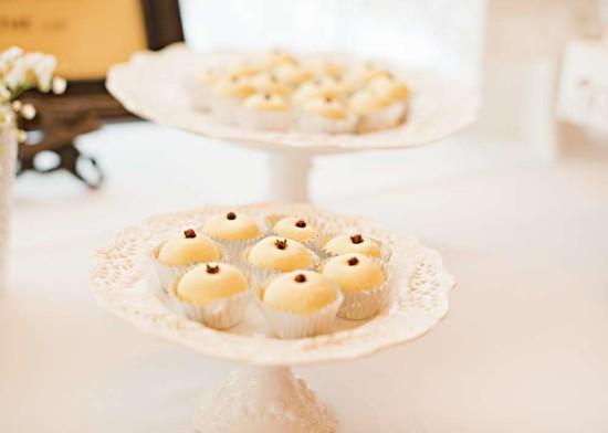 Vintage White Baby Shower food ideas