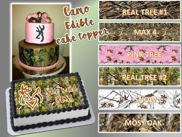 camouflage edible cake toppers