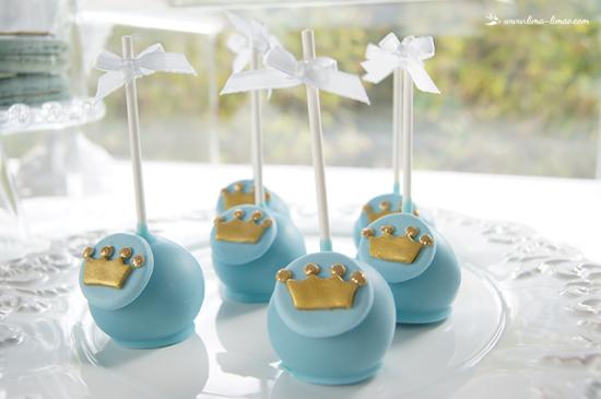 little prince baby shower ideas cake pops