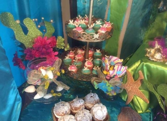 under the sea baby shower food ideas, cupcakes