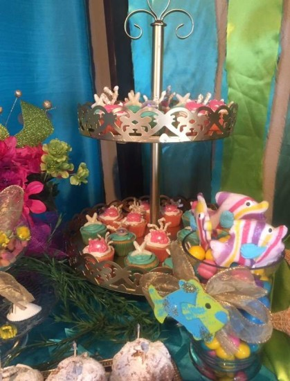 under the sea baby shower food ideas, cupcakes and treats