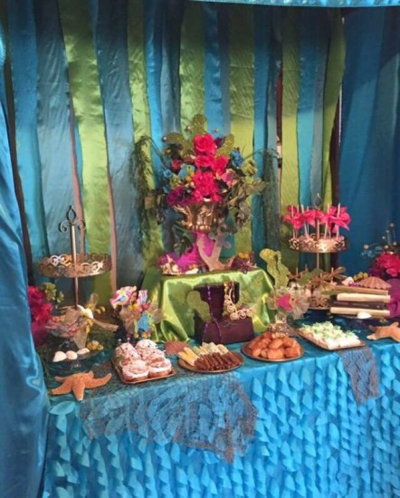 under the sea baby shower food table idea