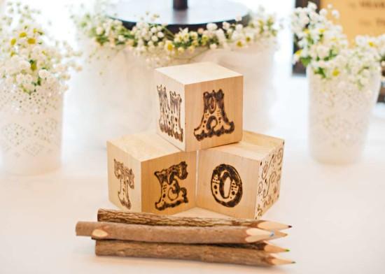 wooden blocks for baby shower