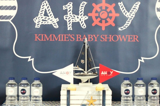 Ahoy! Nautical Themed Baby Shower amazing backdrops