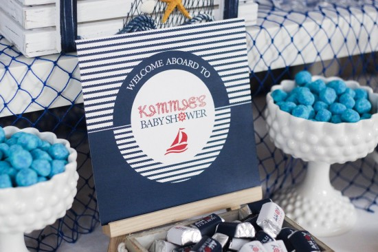 Ahoy! Nautical Themed Baby Shower welcome sign