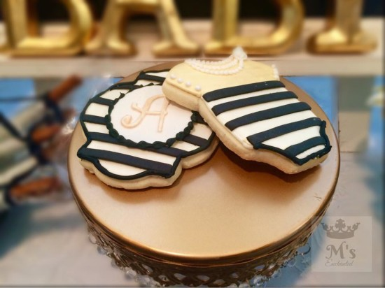 Elegant Shabby Chic Shower cookies