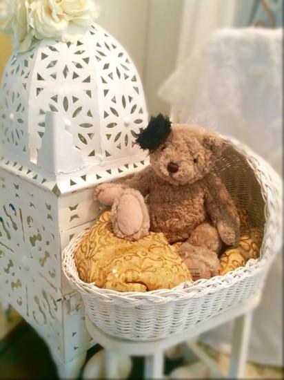 Elegant Shabby Chic Shower little teddy bear