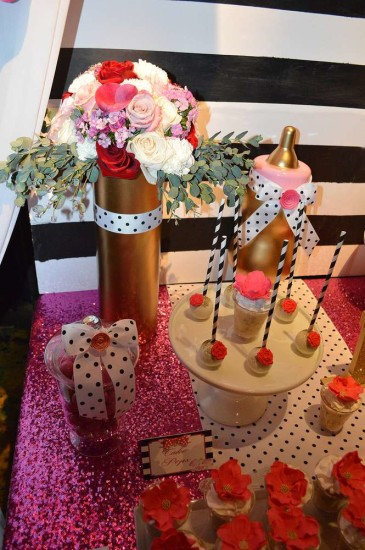 Kate Spade Inspired Baby Shower, black dots