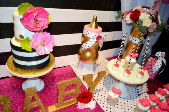 Kate Spade Inspired Baby Shower cake