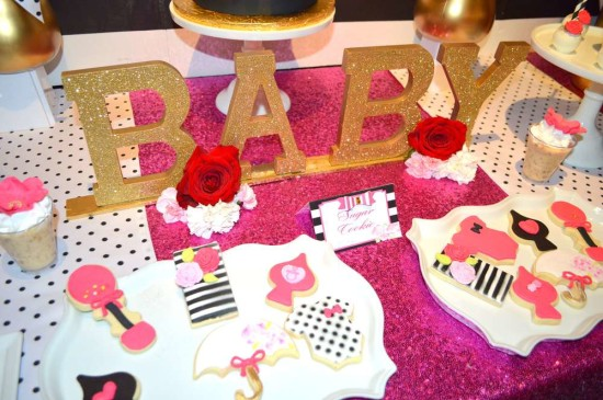 Kate Spade Inspired Baby Shower cookies