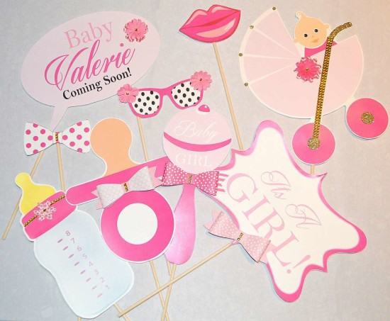 Kate Spade Inspired Baby Shower photo booth props