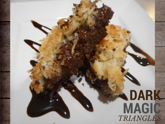 Dark Magic Triangles with Chocolate, Peanut Butter, Coconut