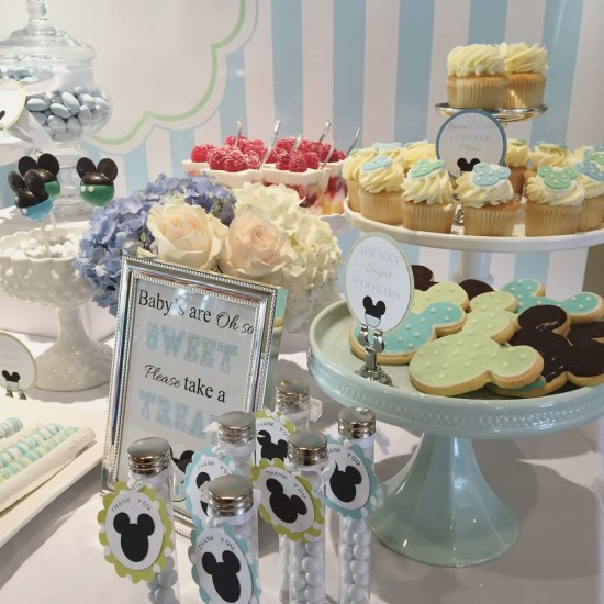 Baby Mickey Mouse Baby Shower, babies are sweet take a treat