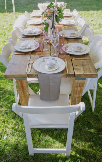 rustic guest table setting