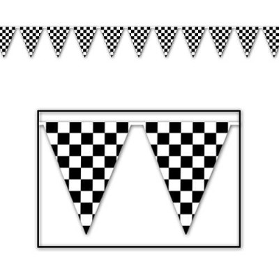 Checkered Flag Pennant Banner