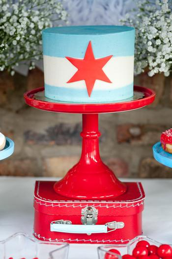 Chicago Baby Shower cake