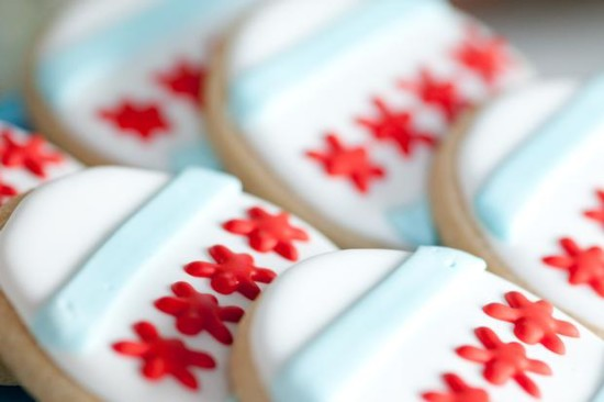 Chicago Baby Shower cookies