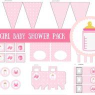 Free Girl Baby Shower Pack