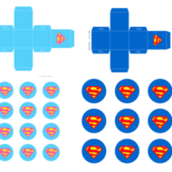 Free Superman Supergirl baby shower favor boxes