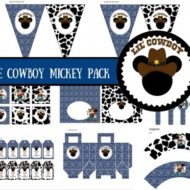 Free Cowboy Mickey baby shower package