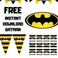 Free Batman baby shower Printable