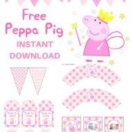 Free Peppa Pig party printable