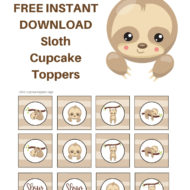 Free Sloth Toppers