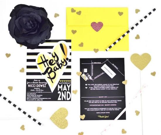 Glam Baby Shower invitation