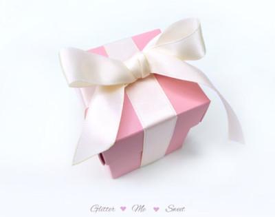 Pink tiffany Favor Box