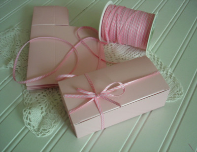 Pink tiffany baby shower Favor Box Bakery Boxes