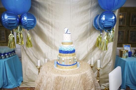Royal Prince Baby Shower cake table decor