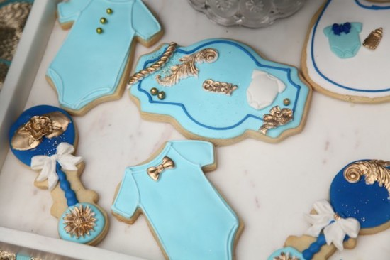 Royal Prince Baby Shower cookies for baby boy