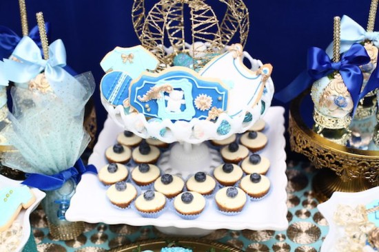 Royal Prince Baby Shower desserts