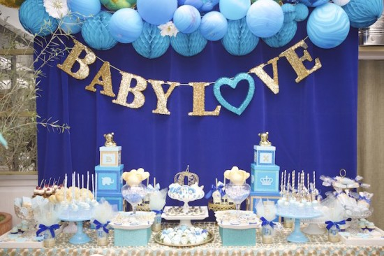 Royal Prince Baby Shower main table