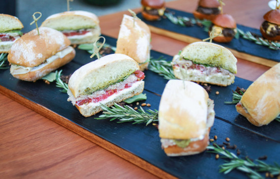 Sprinkle Baby Shower food sandwiches