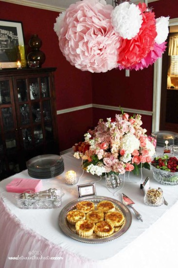 Tiffany Pink Baby Shower food table