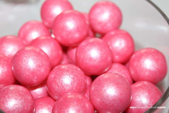 Tiffany Pink Baby Shower food table, pink gumballs