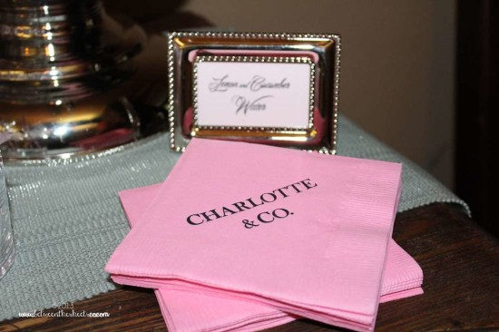 Tiffany Pink Baby Shower personalized napkins